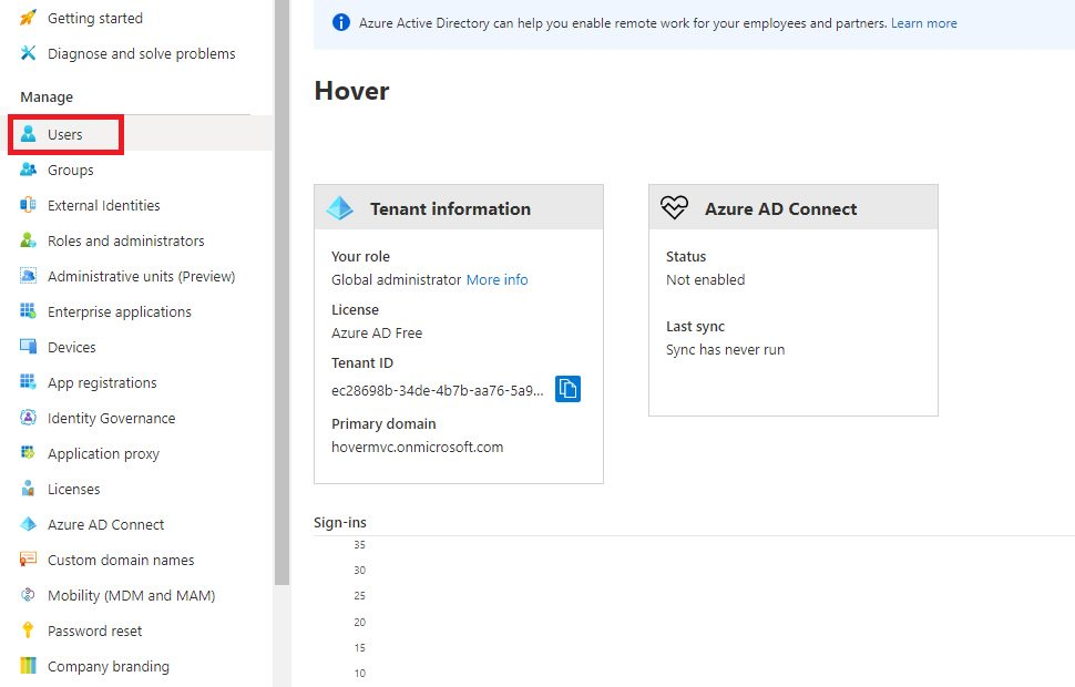 Switch Azure AD tenant and create user Step 4